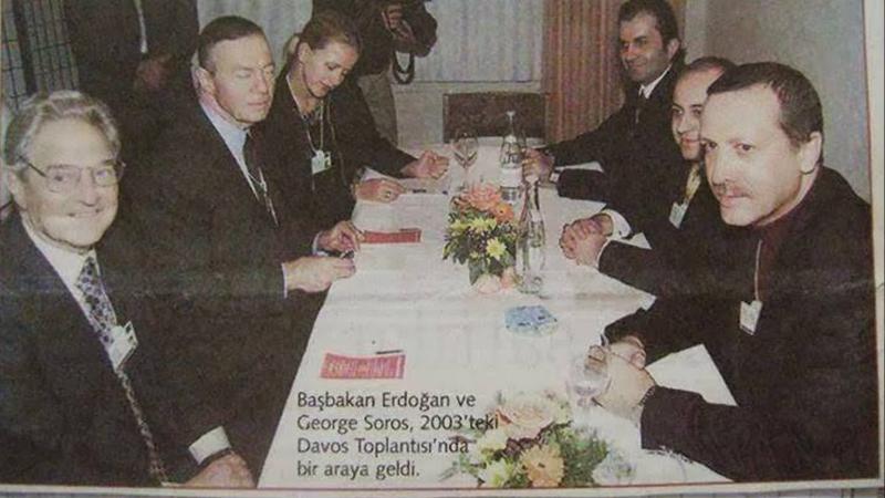 Recep Tayyip Erdoğan ve George Soros Aynı Karede